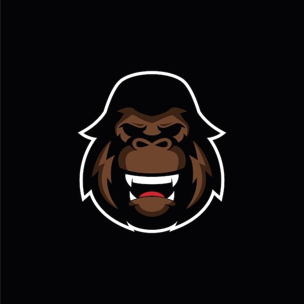 Gorila do logotipo do angry angry