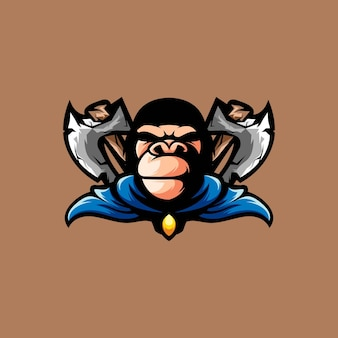 Gorilla axe mascot