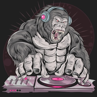 Gorilla dj music party