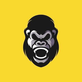 Gorilla head design illustration