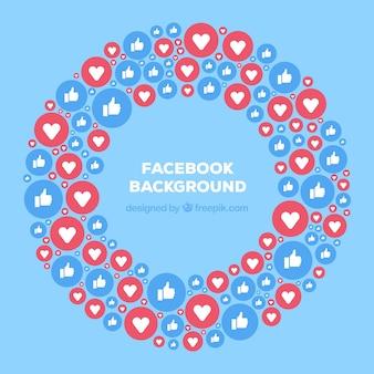 Gosta e corações fundo do facebook