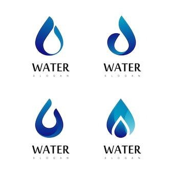 Gota água logo design vector