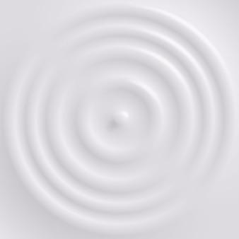 Gota caindo na superfície do leite