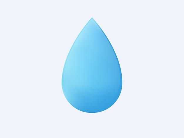 Gota de água 3d isolada.