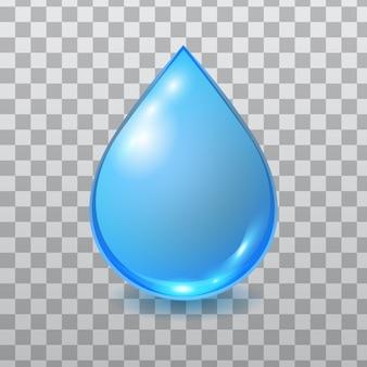 Gota de água azul isolada