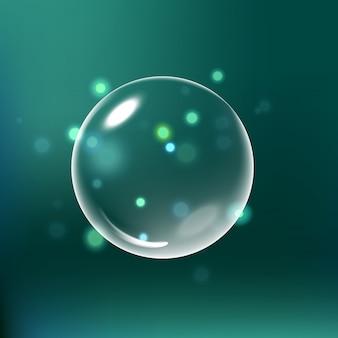 Gota de água de brilho, gota de água com efeitos isolados
