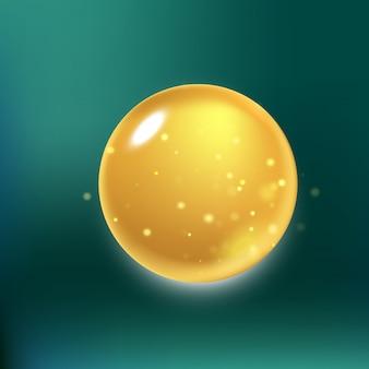 Gota de colágeno de brilho, gota de óleo com efeitos isolados