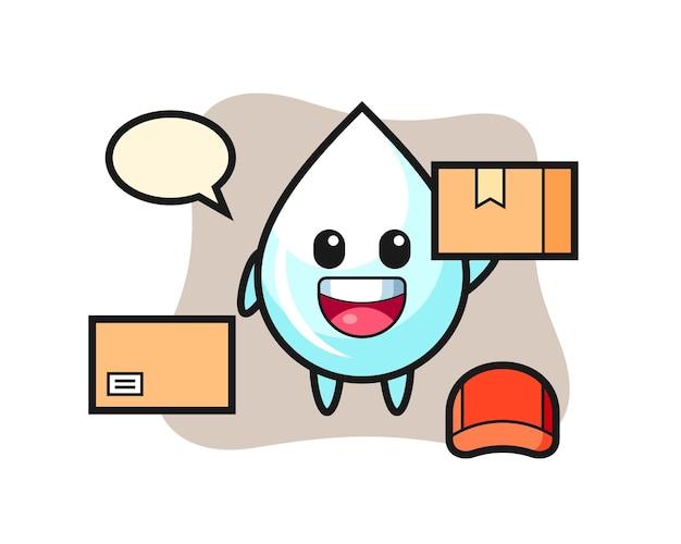 Gota de leite, design de estilo fofo para camiseta, adesivo, elemento de logotipo