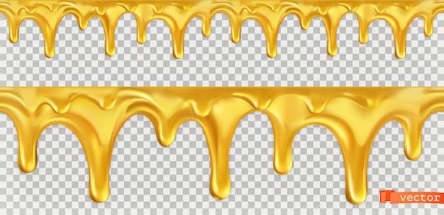 Gota de mel sem costura. 3d