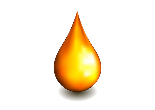 Gota de óleo isolada no branco. bolha de soro cosmético spa