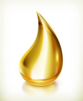 Gota de óleo realista