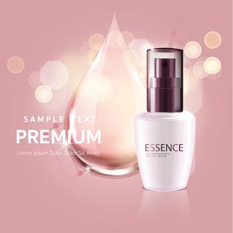 Gota rosa soro para beleza e cosmético conceito