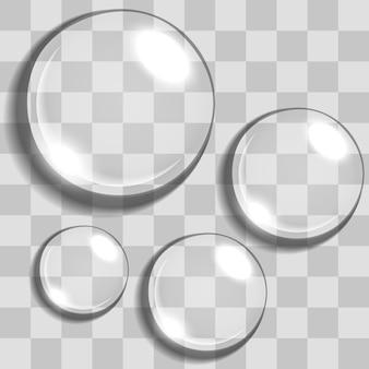 Gotas de água com fundo de transparência