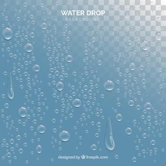 Gotas de água de fundo em estilo realista