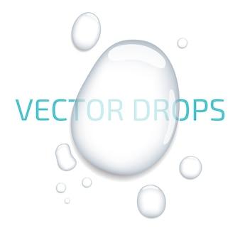 Gotas de água pura e clara