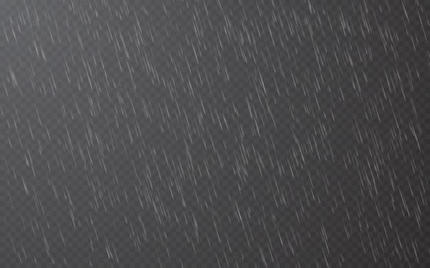 Gotas de chuva em fundo transparente