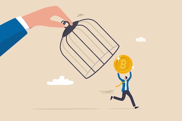 Governo de regulamentação de bitcoins e criptomoedas tenta controlar dinheiro criptográfico ou descentralizado