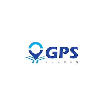 Gps point logo navigation and compass icon