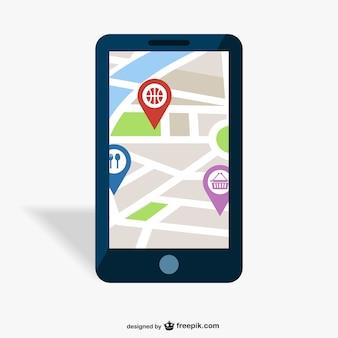 Gps projeto mobile app vetor