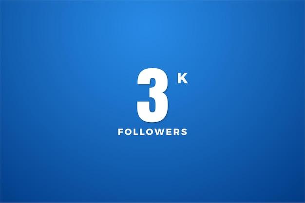Graças a 3k seguidores com um design simples