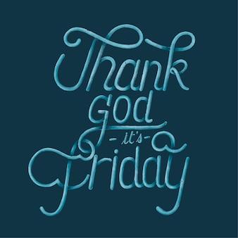 Graças a deus é sexta-feira tipografia design ilustração