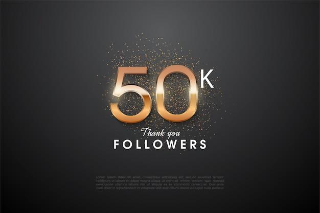 Graças aos 50 mil seguidores com os números brilhantes no meio.
