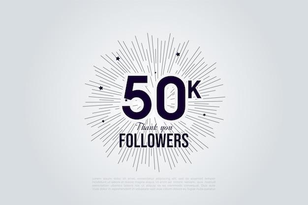Graças aos 50 mil seguidores com os números e linhas que compõem o sol.