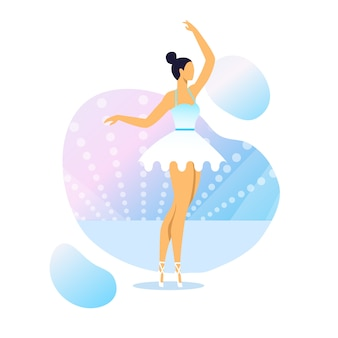 Graciosa bailarina ilustração vetorial de desempenho