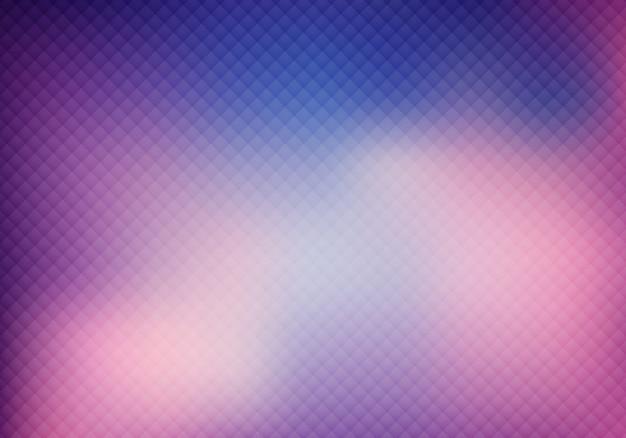 Grade de cor roxa 3d abstrata no fundo desfocado