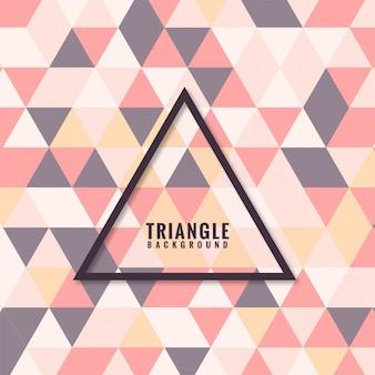 Grade de mosaico abstrato triângulo colorido