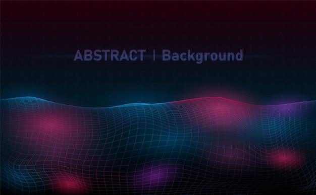 Grade de onda de espectro abstrato. fundo de onda colorida abstrata .vetor e ilustração.