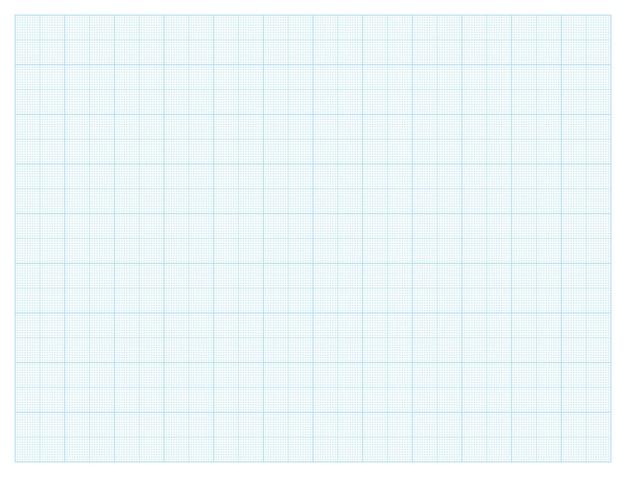 Grade milimétrica de papel milimetrado padrão azul para arquitetos de projetos de engenharia de desenhos