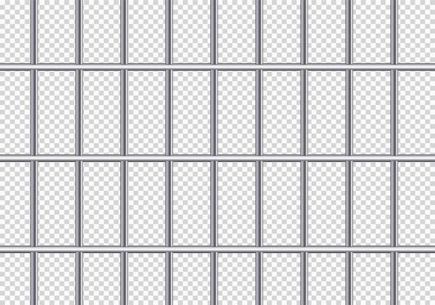 Grades de prisão de metal realistas