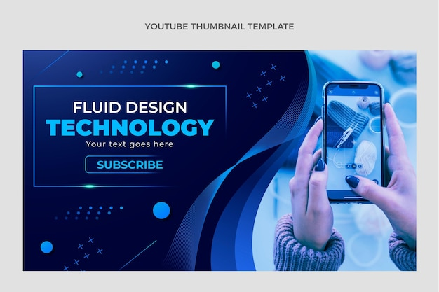 Gradient abstract fluid technology youtube thumbnail