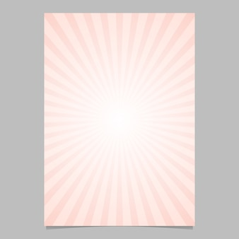 Gradient abstract ray burst design flyer template - gráfico de fundo de vetor com raios radiais