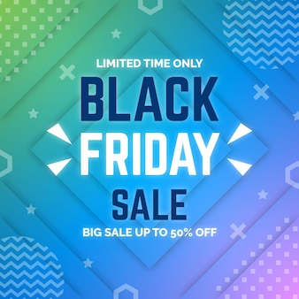 Gradient black friday sale com oferta