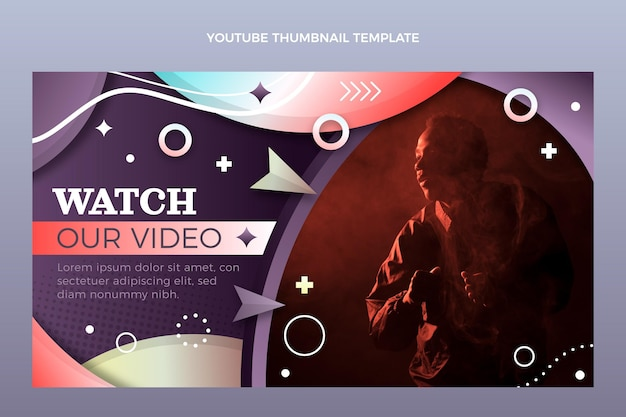 Gradient colorful music festival youtube channel art