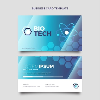 Gradient science business card horizontal