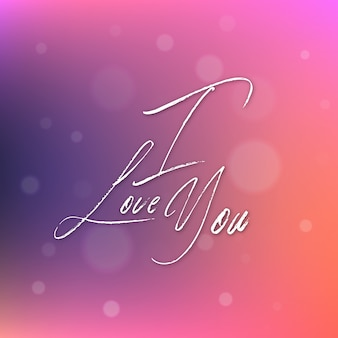 Gradient valentine i love you background