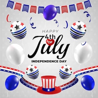 Gradiente 4 de julho - ilustração do dia da independência