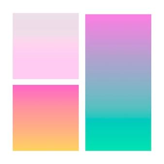 Gradiente abstrato em violeta, rosa, azul.