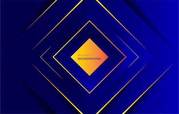 Gradiente azul com fundo listrado dourado