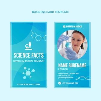 Gradiente ciência cartão de visita vertical