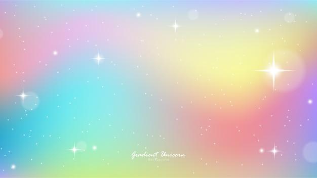 Gradiente colorido do céu do unicórnio