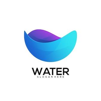 Gradiente colorido do logotipo da água