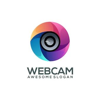 Gradiente colorido do logotipo da câmera