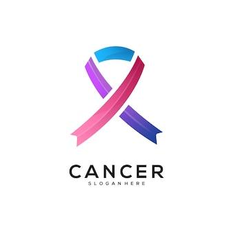 Gradiente colorido do logotipo do câncer
