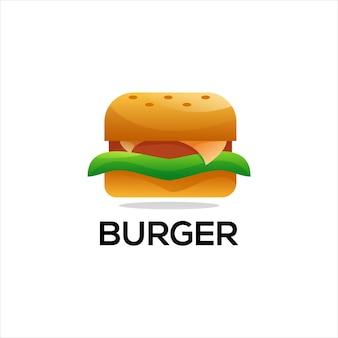 Gradiente colorido do logotipo do hambúrguer