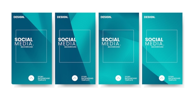 Gradiente colorido moderno para o fundo do modelo de história de mídia social