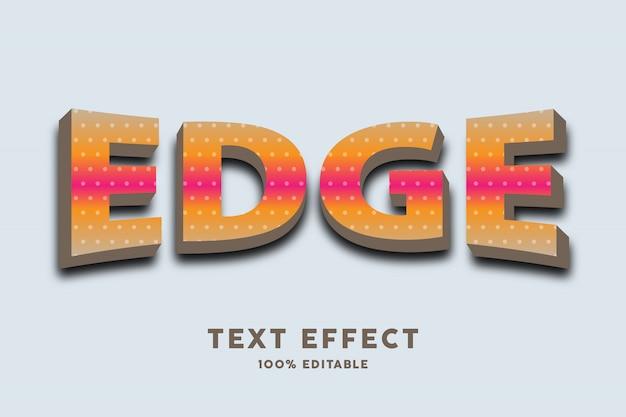 Gradiente com efeito de estilo de texto em arco